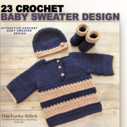 23 baby sweater design
