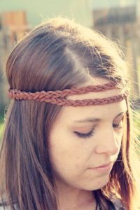 Braided DIY Hippie Girl Headband