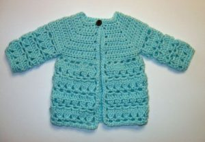 Awesome Top-Down Crochet Baby Sweater Pattern