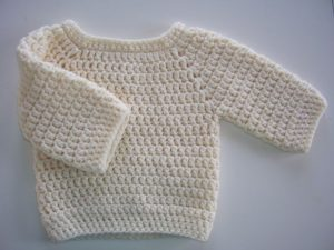Easy Crochet Baby Sweater Pattern