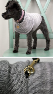 Easy Dog Sweater Knitting Pattern in the Round