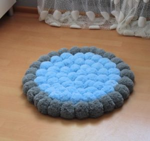 Pom Pom Rug for Nursery