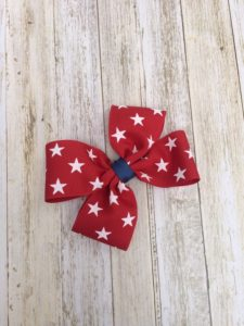 Vivid 4th of July Boutique Hair Bow