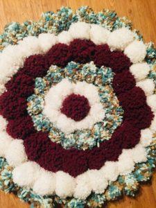 Large Wool Pom Pom Rug