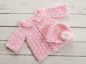 Attractive Crochet Baby Sweater Pattern