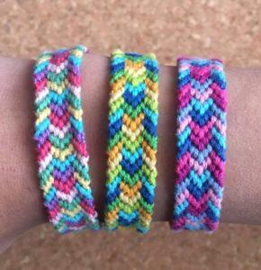 Bordered Chevron Friendship Bracelet Pattern