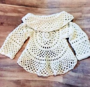 Baby Girl Sweater Dress Crochet Pattern