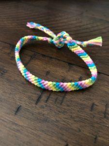 Two Color Skinny Chevron Friendship Bracelet