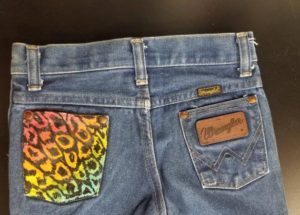 Cool Jeans Painted Pocket