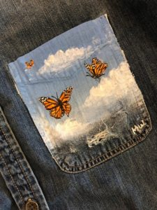 Jean Pocket Painting With Acrylic Paint