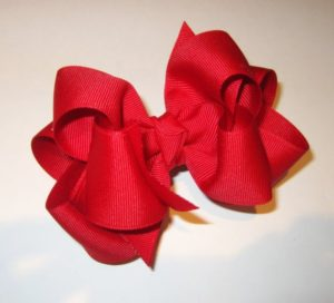 Big, Red Boutique Hair Bow for Girls