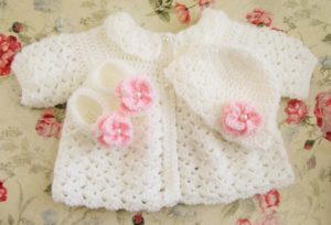 Free Crochet Baby Sweater and Hat Pattern