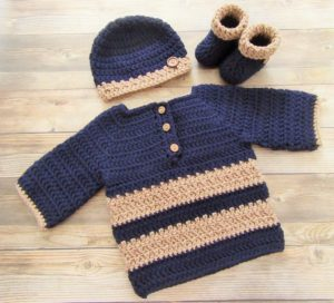 Crochet baby sweater design