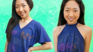 Stylish Cut T-Shirt Halter Top