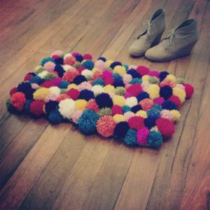 Make Your Own Pom Pom Rug