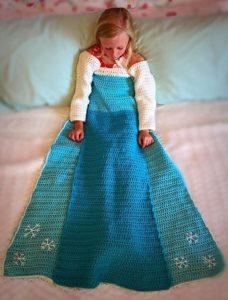 Princess Dress Crochet Blanket Pattern