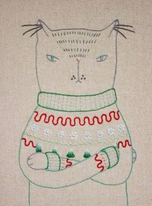 Ugly Christmas Sweater Cat Pattern