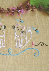 Playful Kitties Embroidery Pattern
