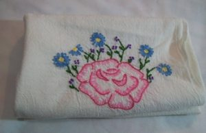 Simply Stitched Floral Dishtowels