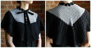 Star Stitch Capelet Free Crochet Pattern