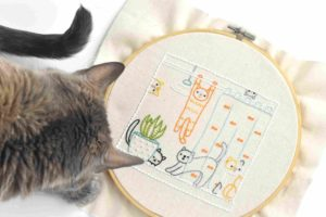 Comfy Kitty Punch Needle Pattern