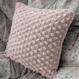 Textured Crochet Pillow Cover Free Pattern