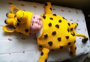 Crochet Giraffe Baby Cocoon