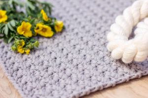 Seed Stitch Crochet Washcloth or Blanket