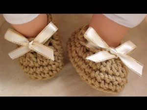 Baby Booties with Ribbon