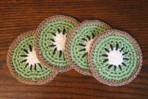 Kiwi Coasters Free Crochet Pattern