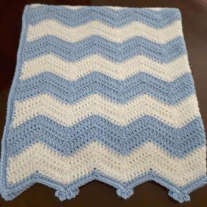 Cheerful Ripple Crochet Blanket Free Pattern