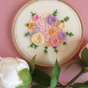 Hooped Spring Garden Embroidery Pattern