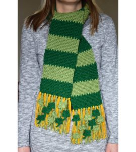 Easy Moss Stitch Crochet Scarf Free Pattern