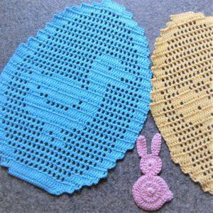 Filet Crochet Coasters Free Pattern