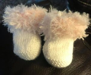 Baby Booties Fur Topped