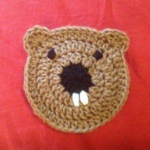Groundhog Coaster Free Crochet Pattern