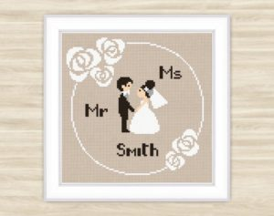 Bride and Groom Text Patterns
