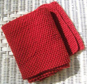 Moss Stitch Crochet Scarf Free Pattern