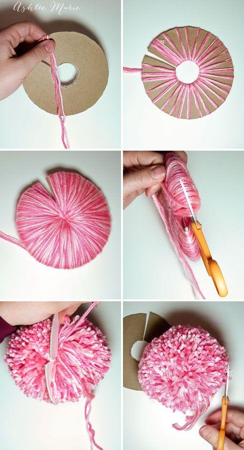 Easy Way to Make Yarn POM POM