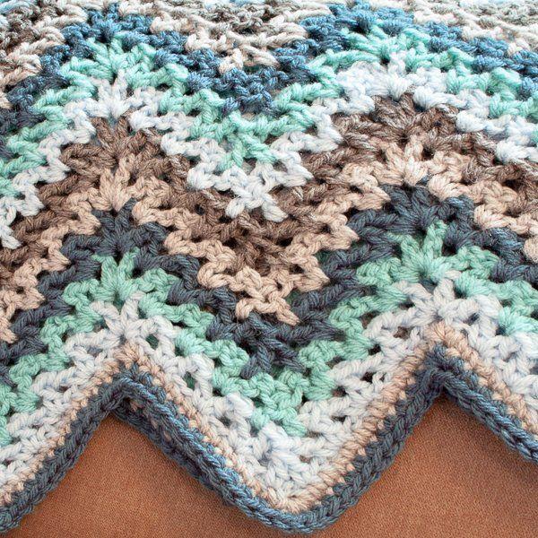 V-Stitch Crochet Doll Blanket Free Pattern