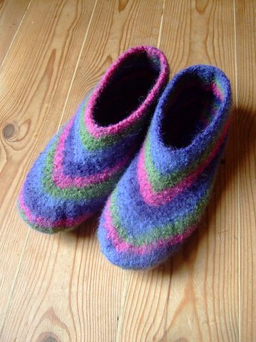 Quick-Knit Felted Slippers Pattern
