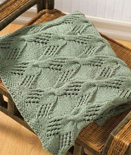Textured Lace and Cable Blanket