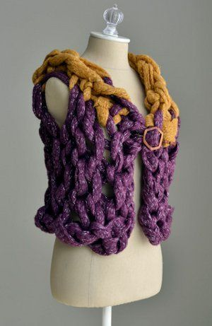 Arm Knit a Bulky Vest