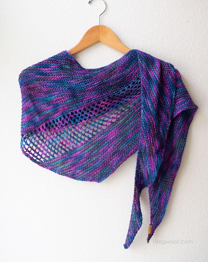 Asymmetrical Wrap Knitting Pattern