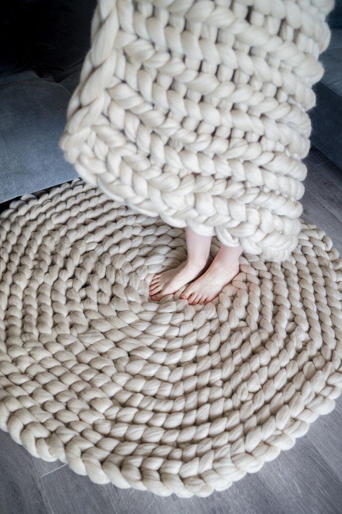 Craft an Arm-Knit Rug