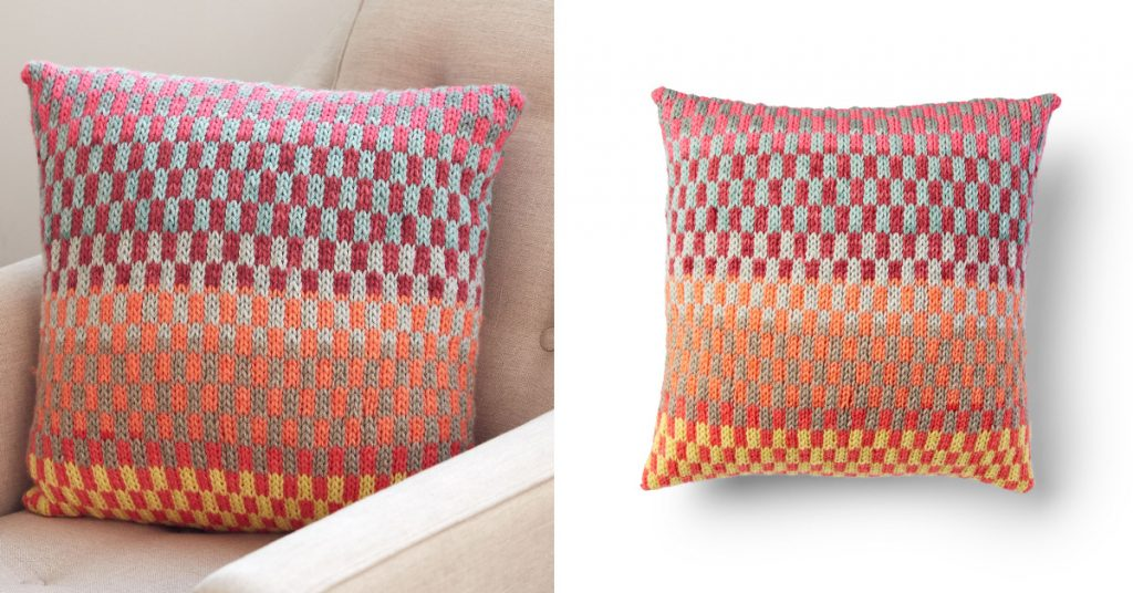 Fantastic Fair Isle Knit Pillow