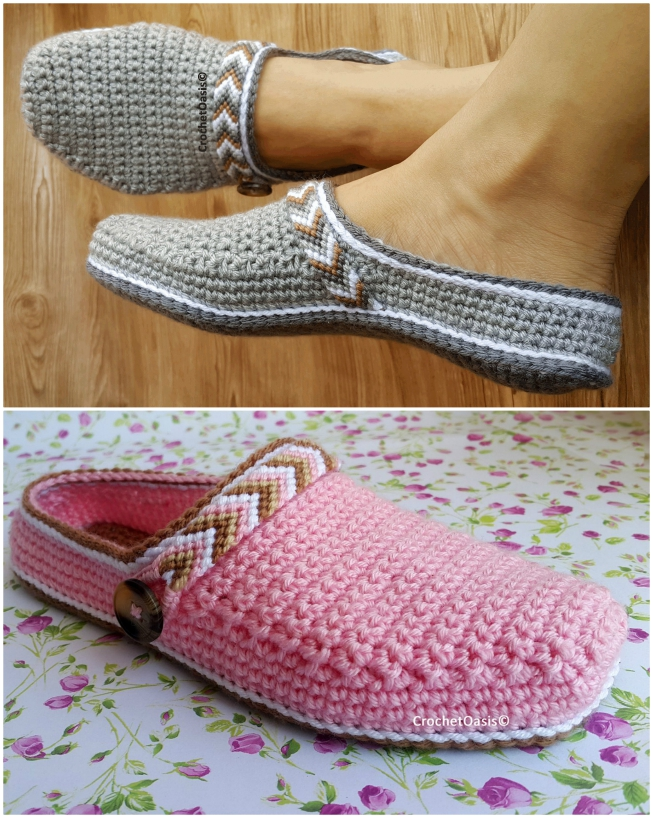 Clog-Style Slippers Pattern