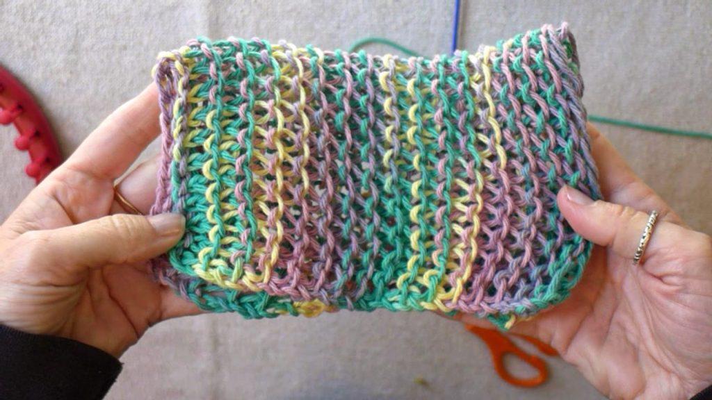 Handknit dishcloths Loom Knitting