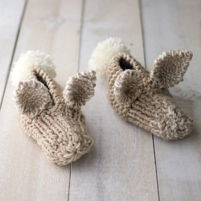 Fluffy Bunny Slippers Pattern