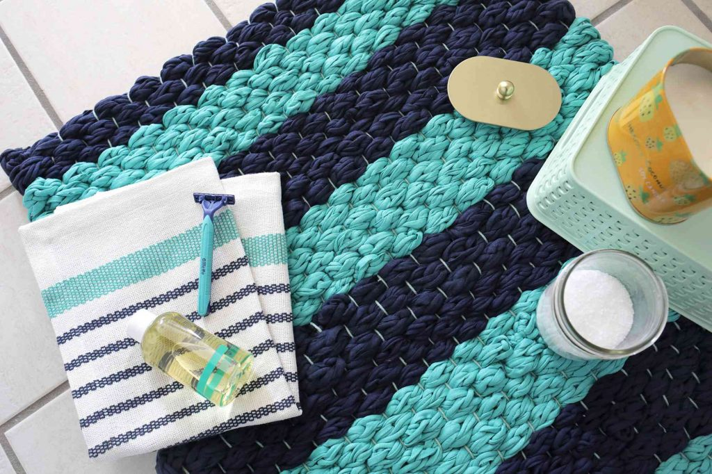 Stay Snug and Cozy on a Finger-Knit Rug